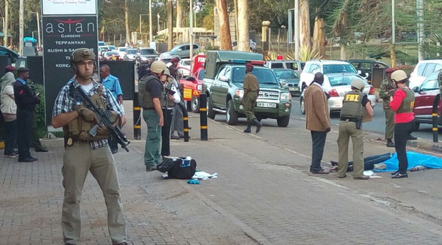 The shooting occurred at the entrance of the VISA section on UN Avenue in Gigiri/MOSES MUOKI