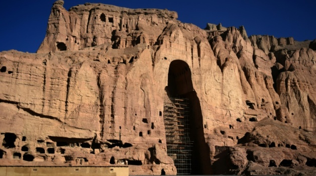 Two monumental ancient statues of Buddha carved into the cliffs of Bamiyan in Afghanistan were pulverised by the Taliban in 2001/AFP-File