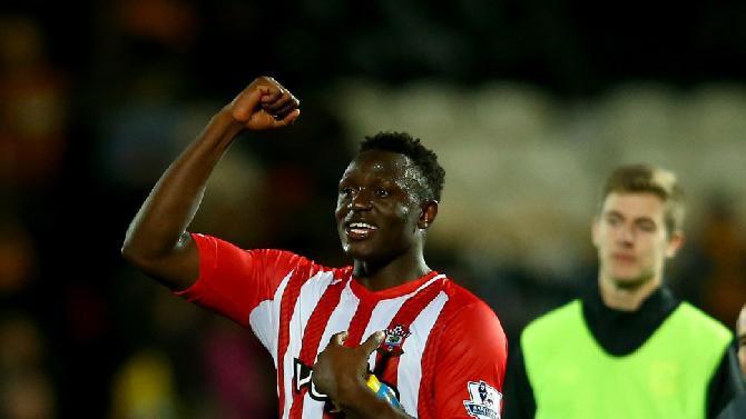 Victor Wanyama celebrates his goal against Hull City.