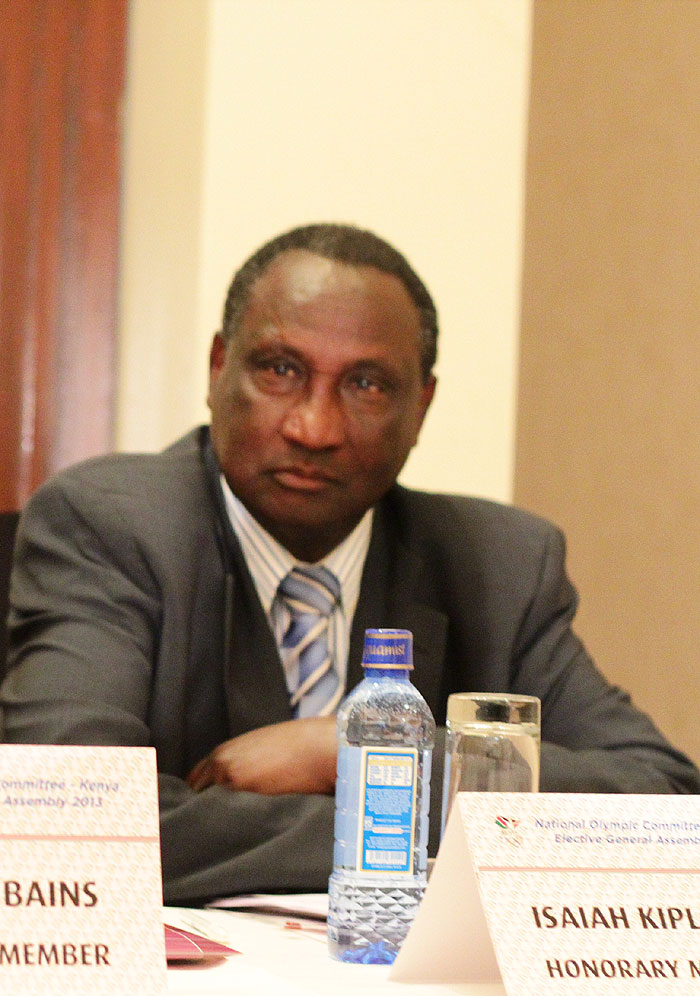 AK boss, Isaiah Kiplagat, who failed in his bid to win one of the four IAAF Vice-President posts. PHOTO/File