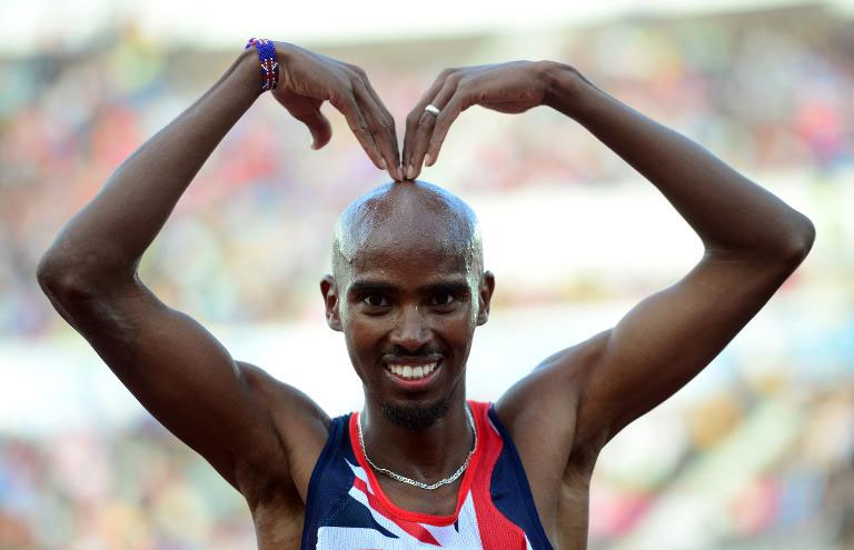 British distance great Mo Farah, pictured on June 27, 2012, is to have his medical data examined by UK Athletics officials following the controversy engulfing his coach, Alberto Salazar, over doping allegations