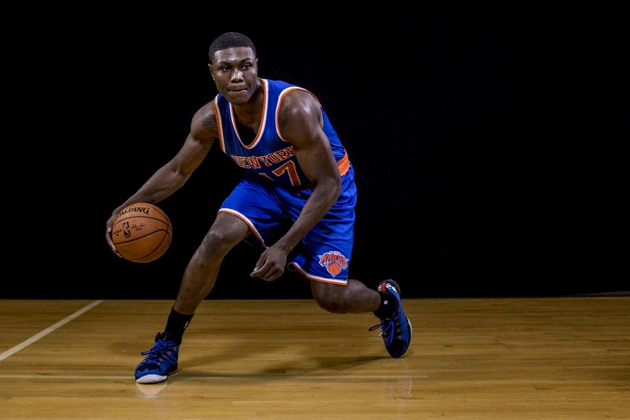 Cleanthony Early of the New York Knicks was shot in the leg in an apparent robbery after leaving a strip club early on December 30, 2015 (AFP Photo/Nick Laham)