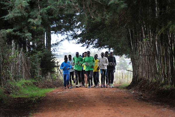 Athletes training in Kenya. PHOTO/AFP.