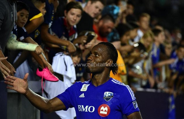 Former Chelsea star Didier Drogba scored his first goal of the Major League Soccer season as the Montreal Impact beat the Fire 2-1 in Chicago (AFP Photo/Frederic J. Brown)