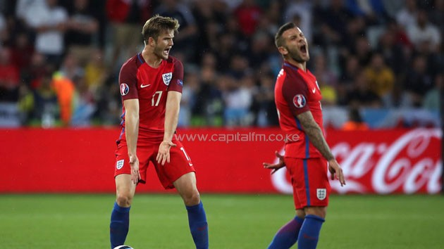 Eric Dier and Jack Wilshere show their frustration in St Etienne.S PHOTO/Sky Sports.