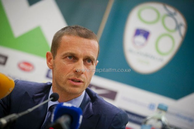 Aleksander Ceferin, president of Slovenian Football Association speaks during press conference in 2011 (AFP Photo/Jure Makovec)