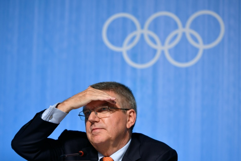 International Olympic Committee (IOC) president Thomas Bach attends a press conference closing the 129th International Olympic Committee session in Rio de Janeiro