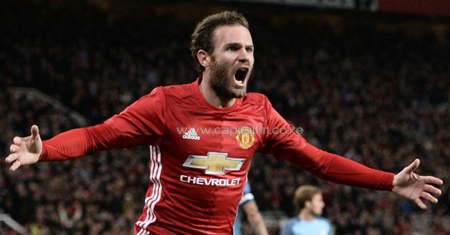 Juan Mata celebrating after scoring the winner.PHOTO/TeamTalk