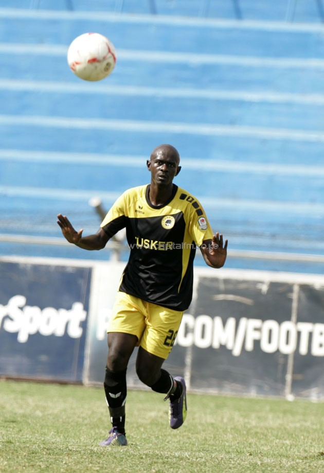 Tusker FC utility player Orsborne Monday in action in a past KPL match. PHOTO/Raymond Makhaya