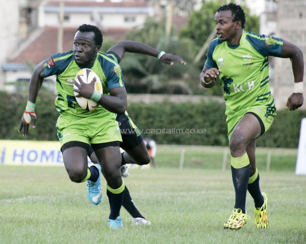 KCB leads the Kenya Cup  standings on 15 points ahead of Kenya Harlequin and Impala with the same points but the bankers have a better goal difference.PHOTO/File