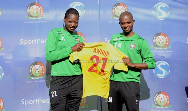 18-year old Nyakach high School goalkeeper Lilian Awuor has made the cut for the team travelling to Cameroon. PHOTO/Timothy Olobulu
