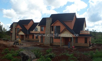 House under construction in Thika Green Estates
