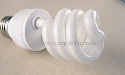 Compact fluorescent lamps (CFLs) which will benefit about one million Kenya Power customers.