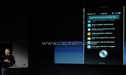 Apple's Senior VP of iOS, Scott Forstall, speaks about Siri, in Cupertino, California, October 4, 2011/AFP