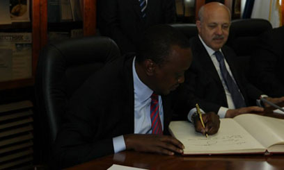 The Head of State extended an invitation to Russian President Vladimir Putin to visit Kenya/PSCU
