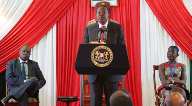 President Kenyatta said Kenya was on course to double digit economic growth. Photo/ PSCU