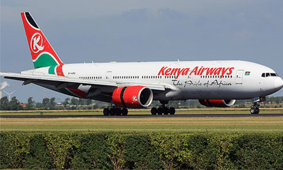 The new Boeing 777-300ER will commence direct flights from Nairobi to Guangzhou from November this year/FILE