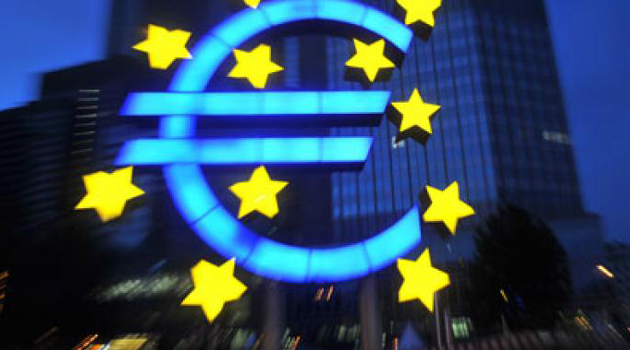 The Eurozone logo/AFP