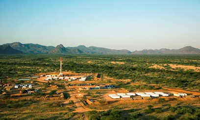 The Ngamia 1 drilling well in Turkana County. Photo/ FILE