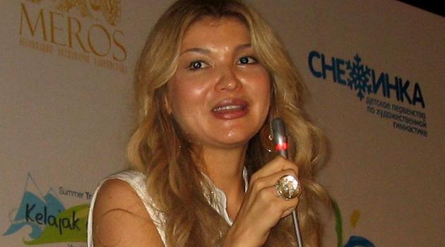 Gulnara Karimova -- the eldest daughter of Uzbekistan's president Islam Karimov -- speaks during a press conference in Chirchik, on August 17, 2012/AFP