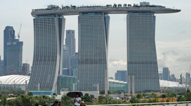 Beautiful Singapore with its Skypark on top./AFP