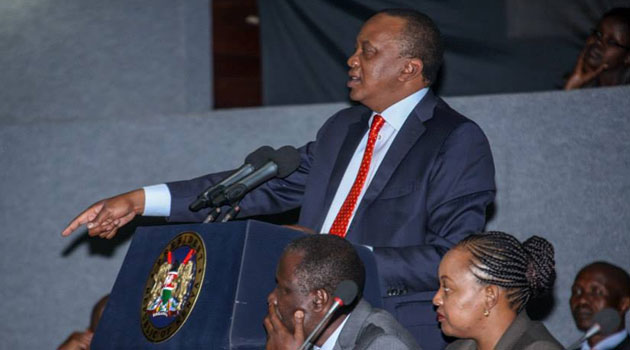 Kenyatta warned those unwilling to take a pay cut to exit government/PSCU