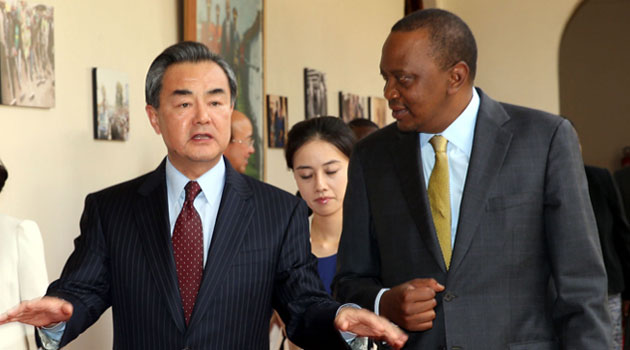 This was the message China's Foreign Affairs Minister Wang Yi delivered to President Uhuru Kenyatta Saturday/PSCU