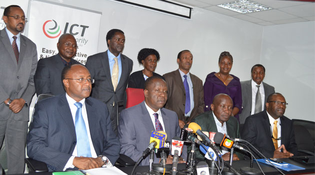 ICT Cabinet Secretary Fred Matiang'i says the taskforce comprises key agencies in both the public and private sectors that include Kenya Power, Kenya Pipeline Company, ICT Authority, Law Society of Kenya (LSK) and Kenya Private Sector Alliance (KEPSA) among others/FILE