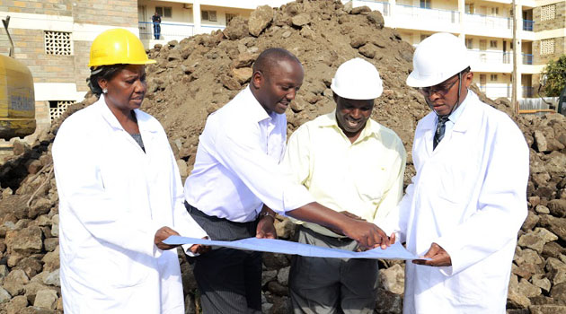 Speaking at the ground-breaking ceremony, CEO Sam Kimani said the bank will spend an estimated Sh250 million to erect the building and about Sh150 million on finishings. Photo/ COURTESY