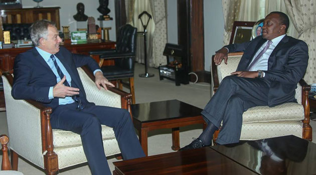 Blair's visit is part of his Africa Governance Initiative's ongoing work in the country/PSCU