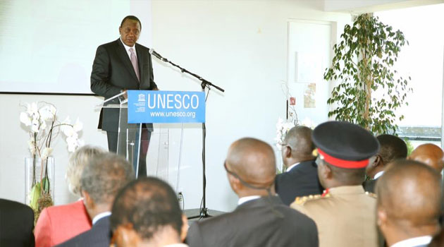 The agreement on Cooperation in the Implementation of Digital Literacy in Kenya signed at the UNESCO headquarters in Paris, France, on Tuesday was witnessed by President Uhuru Kenyatta/PSCU