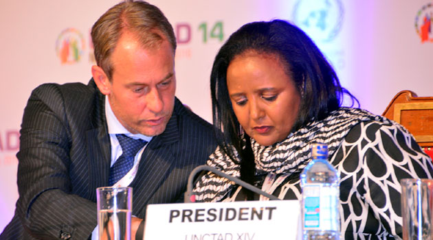 """""""We have a deal! UNCTAD 14 agrees on Negotiated Text!"""" Mohamed said on her Twitter handle on Friday/COURTESY-UNCTAD"""