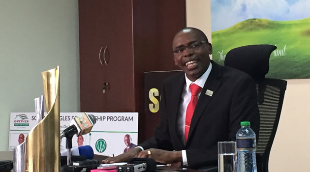 George Wachiuri, CEO of Optiven Limited - the Foundation's mother company - says upon submission, the Foundation will pick, mentor and source funds for the top viable business ideas/CFM NEWS