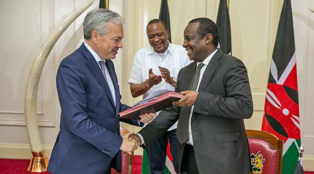 The financial contract for the project was signed Monday evening at State House, Nairobi by the Cabinet Secretary for Finance Henry Rotich and the  Deputy Prime Minister and  Minister for Foreign Affairs of Belgium Didier Reynders/PSCU