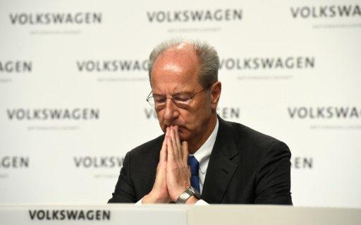 Hans-Dieter Poetsch, supervisory board chairman of German carmaker Volkswagen, pictured in 2015