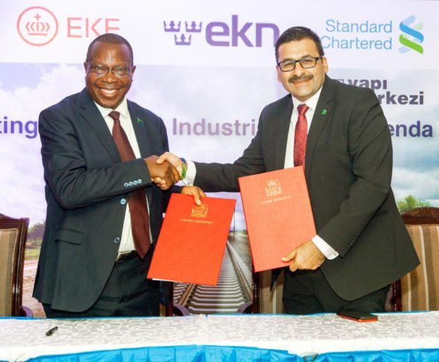 thumbnail Standard Chartered CEO Sanjay Rughani with Minister of Finance and Planning Hon. Phillip Mpango e1581682749233 - Tanzania borrows Sh147bn to construction a 550km SGR