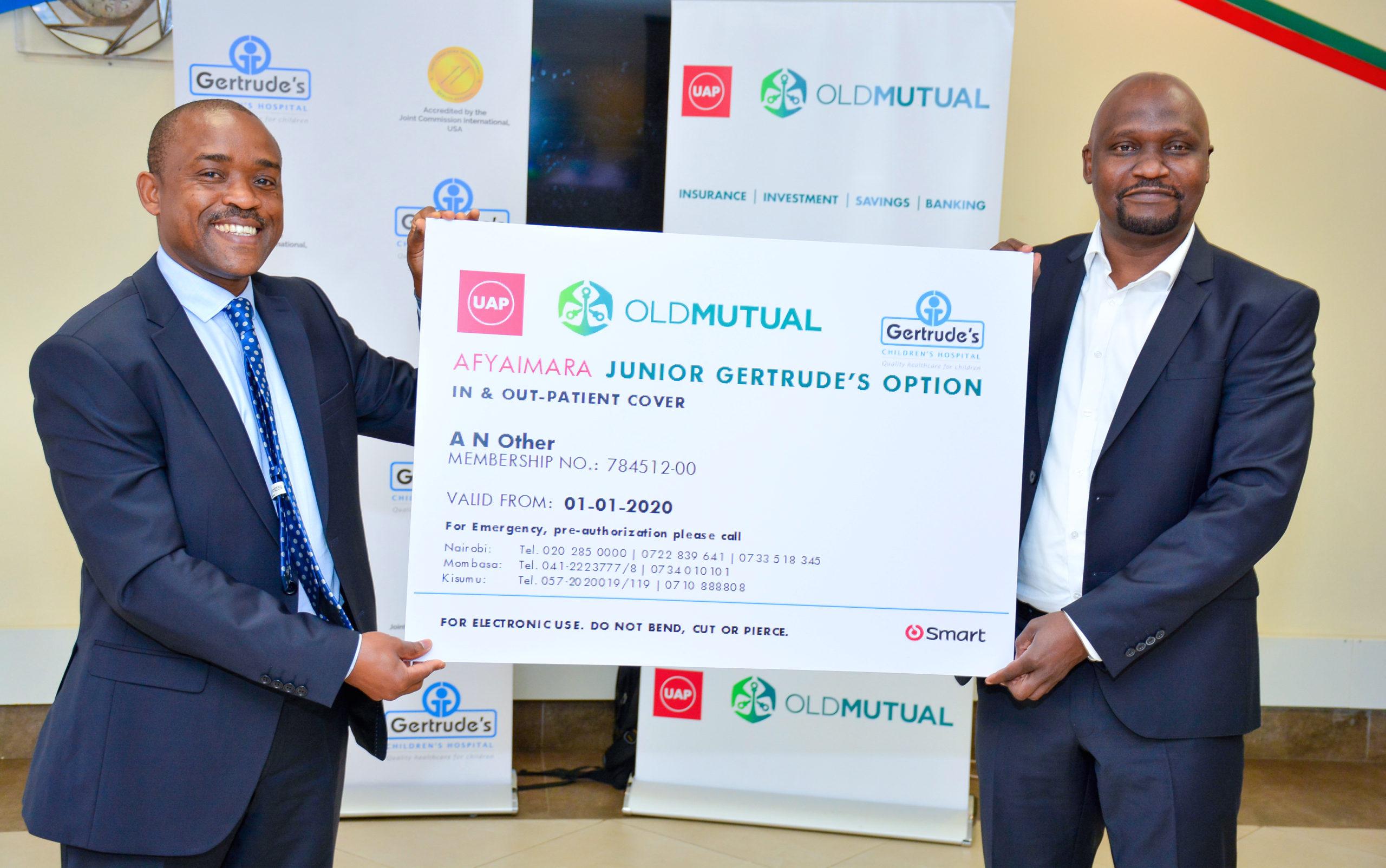 L-R, Robert Nyarango (CEO Gertrude's Children's Hospital), Japheth Ogalloh (GM Health Business UAP Old Mutual) 3
