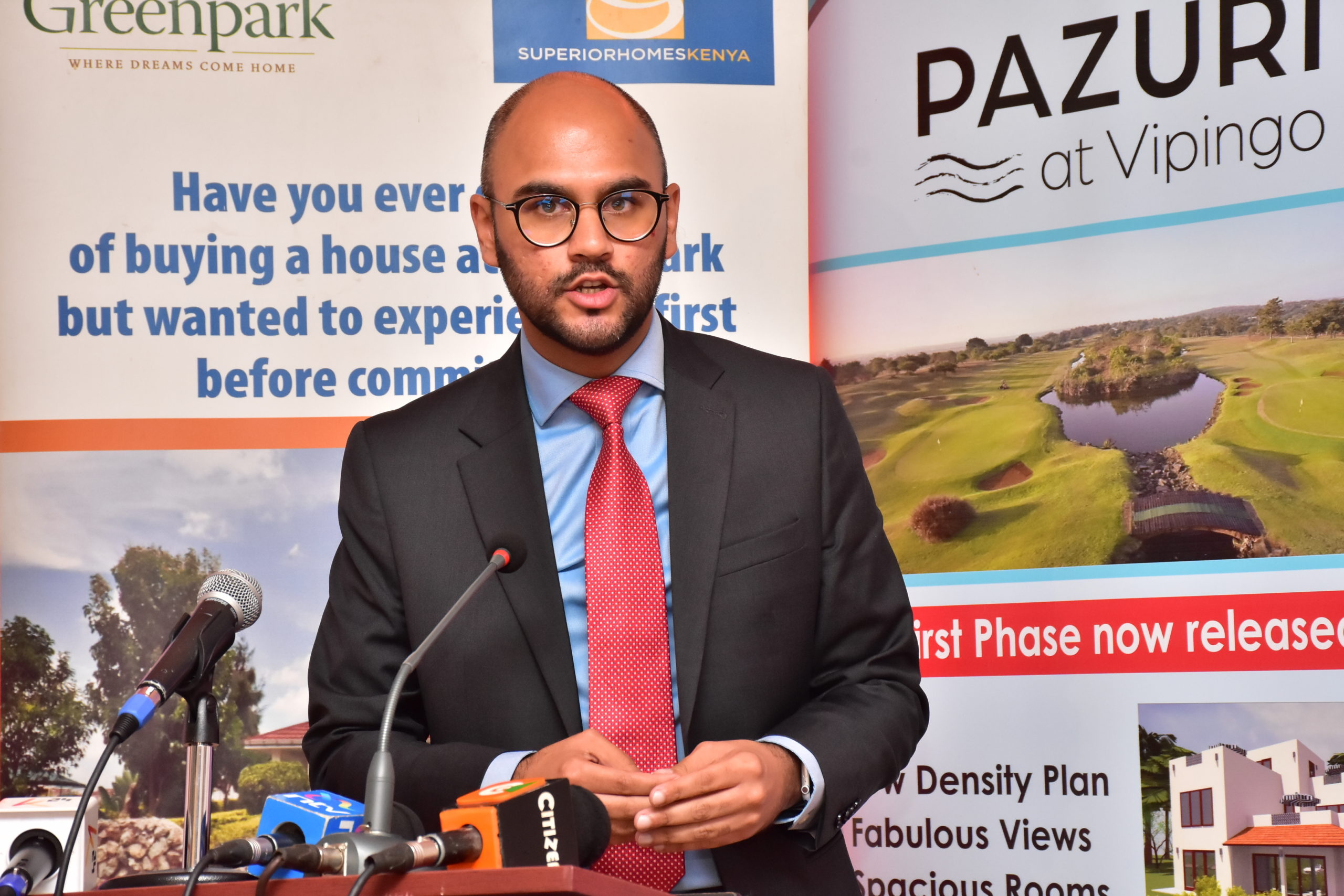 Newly Appointed Superior Homes CEO Shiv Arora speaks at the company's project update function