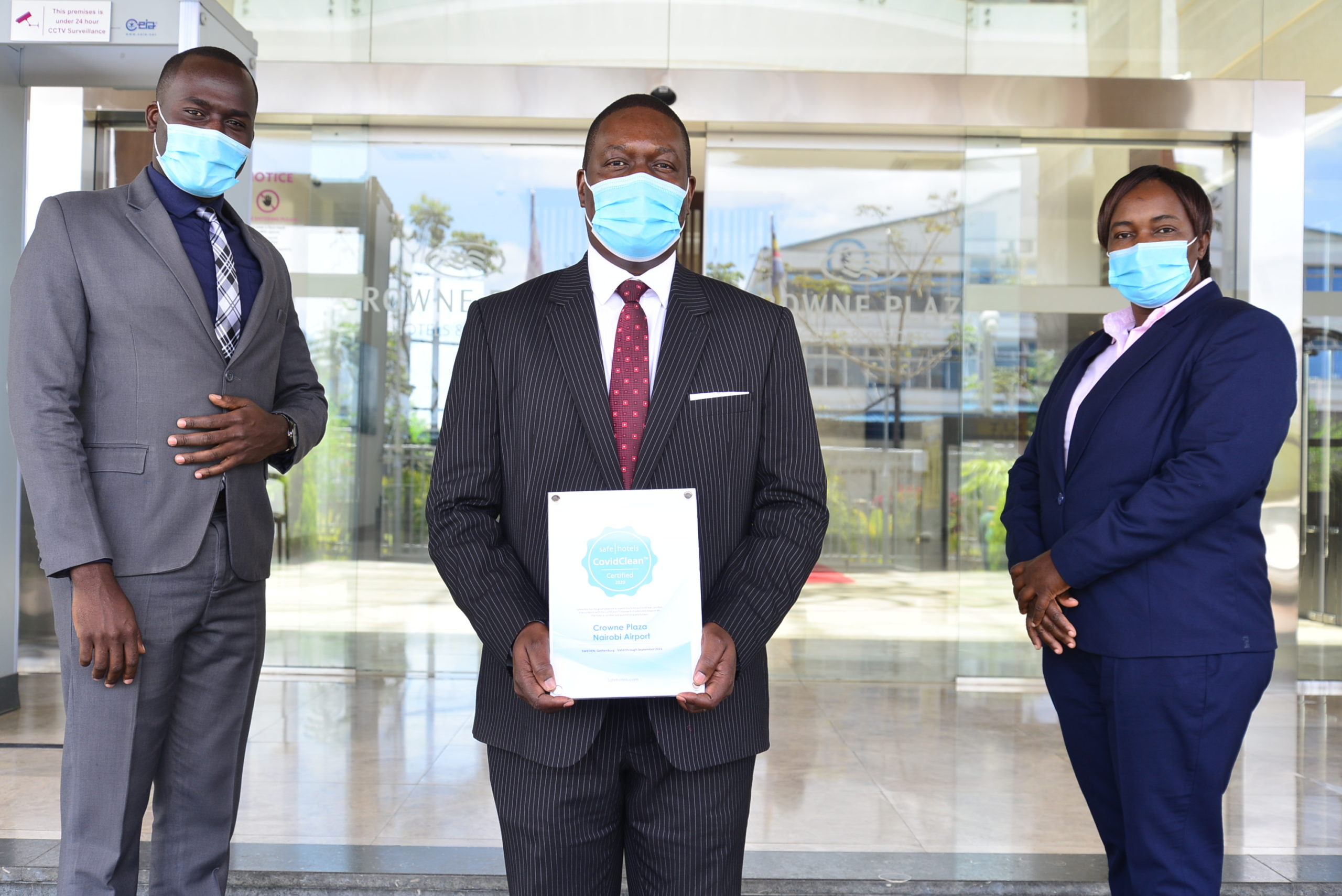 Crowne Plaza Nairobi Airport Obtains CovidClean Certification by Safehotels - Capital Business