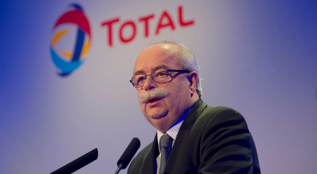 CEO of French multinational oil company Total, Christophe de MargerieEPA/YOAN VALAT