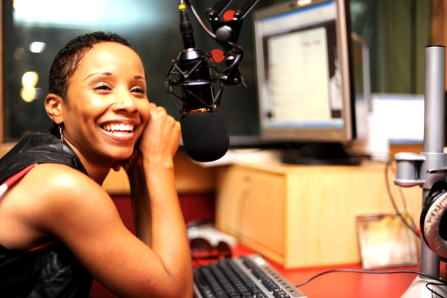 Vivian Green at Capital FM studios with Cess and Maqbul on The Jam (photo credits Susan Wong Oct 14 2011)
