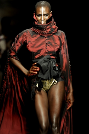 ajuma at Africa Fashion week in south africa photographed by Susan Wong 2011