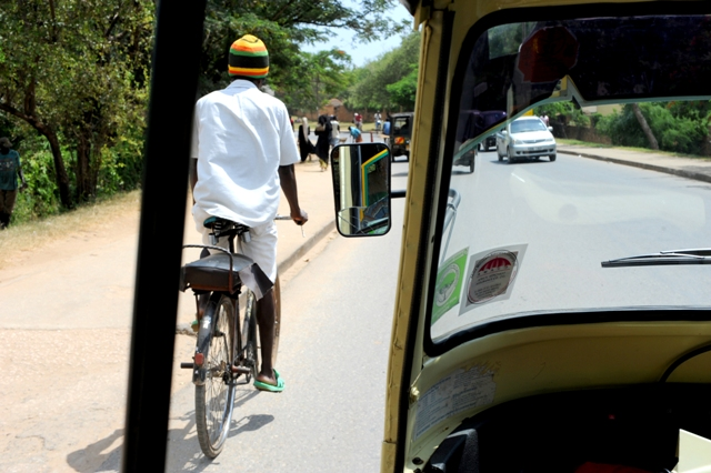 Touring in a Tuk Tuk in Malindi photographed by Susan Wong 2011 - main
