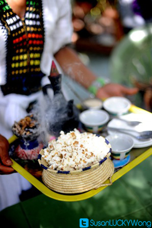 Habesha Restaurant in Nairobi Kenya photographed by Susan Wong 2012 - coffee ceremony