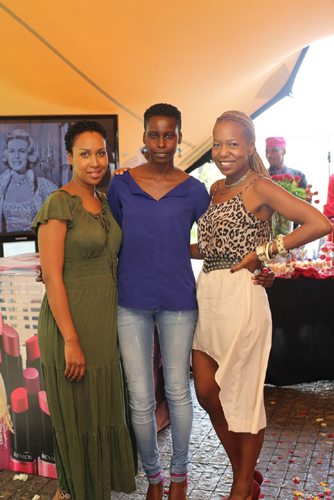 some of the guests who got to enjoy a pampering session courtesy of Revlon