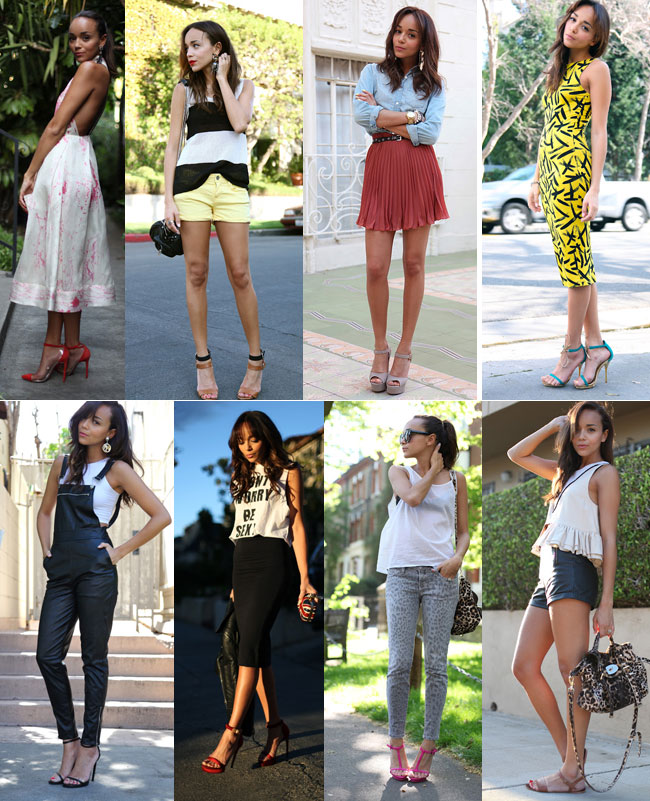 Ashley Madekwe of www.ashley-ringmybell.blogspot.com wearing ankle strap sandals