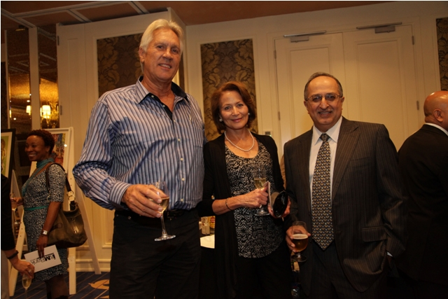 Martin and Geraldine Dunford of the Tamarind Group & Adel Poppat, owner, Villa Rosa Kempinsky