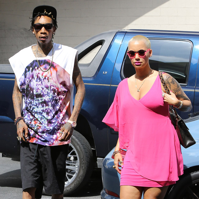 Wiz Khalifa and Amber Rose get some shopping done in Beverly Hills - Part 2