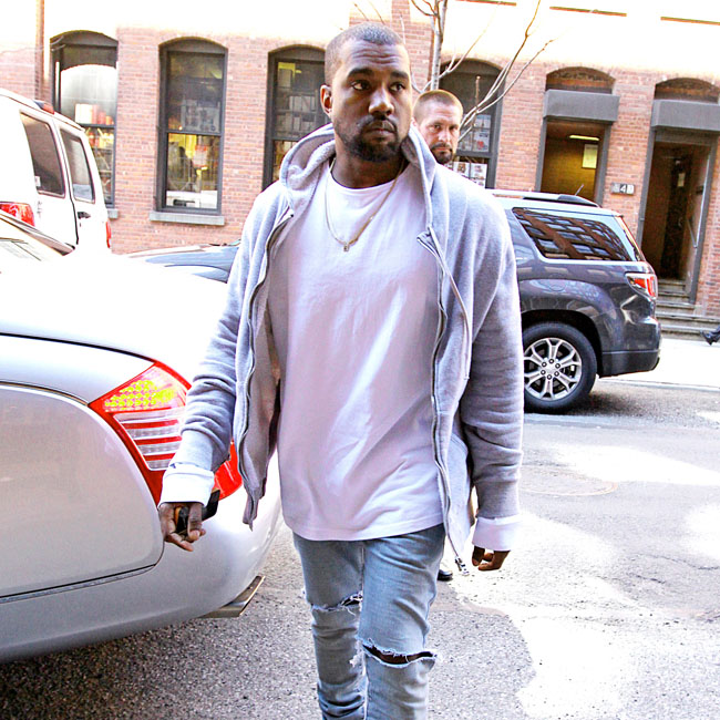 Kanye West runs errands in NYC after the MET Gala