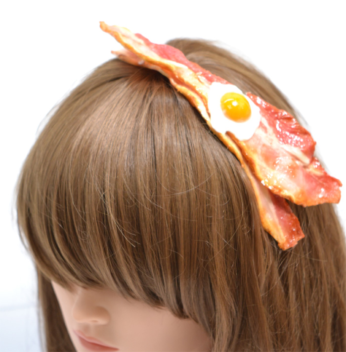 fake bacon and eggs